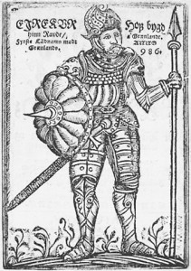 This woodcut of Erik the Red was taken from the frontispiece of the 1688 Arngrímur Jónsson's Gronlandia.