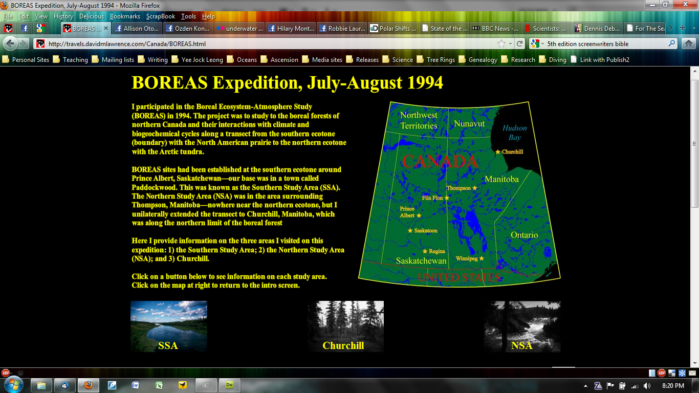 BOREAS Expedition, July-August 1994