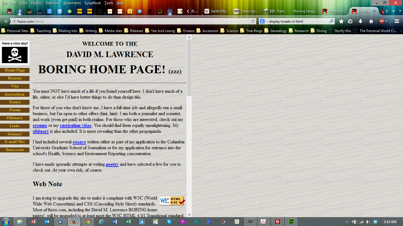 The David M. Lawrence BORING home page